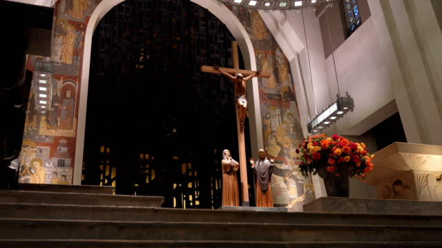 church altar - catholicism stock videos & royalty-free footage