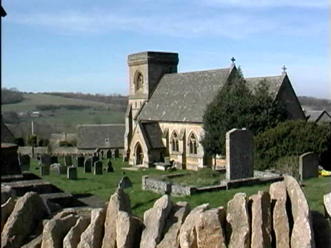 church and cemetery - cotswolds stock videos & royalty-free footage