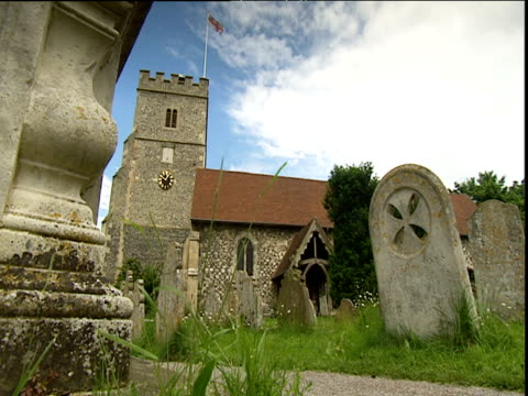 Church and graveyard at Cookham Berkshire