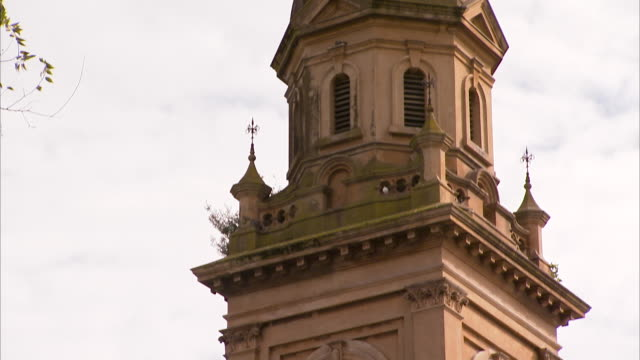 church and trees shot - catholicism stock videos and b-roll footage