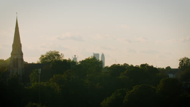 church and woodland at sunset, london - religion stock videos & royalty-free footage