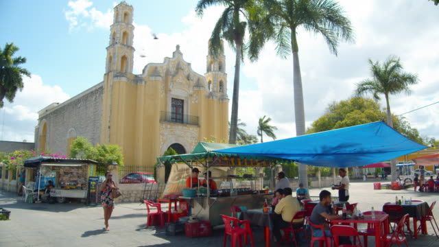 church at mexico village. valladolid, mexico - spanish culture stock videos & royalty-free footage