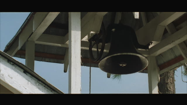 ms church bell ringing in wooden tower - bell stock videos & royalty-free footage