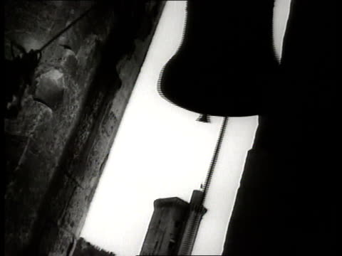 church bell rings in a belfry. - bell stock videos & royalty-free footage