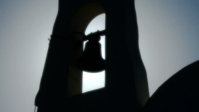 church bells in full hd seamless loop - tight - church stock videos & royalty-free footage