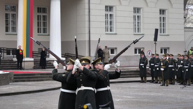 church bells toll across lithuania to mark 100 years of independence regained after world war i by the baltic nation which is now firmly anchored in... - anchored stock videos & royalty-free footage