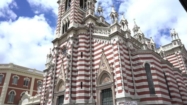 church el carmen in bogota colombia - bogota stock videos & royalty-free footage
