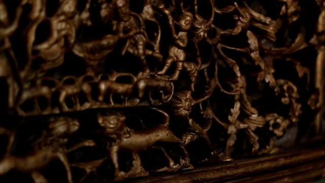vídeos de stock e filmes b-roll de igreja frescoes - antiguidades