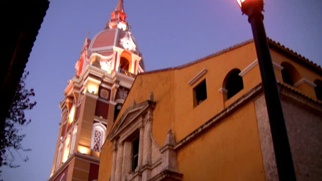 hd: church in cartagena - colombia stock videos & royalty-free footage