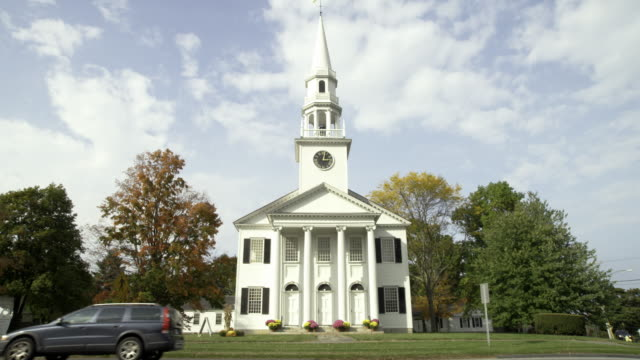 church in ct - church stock videos & royalty-free footage