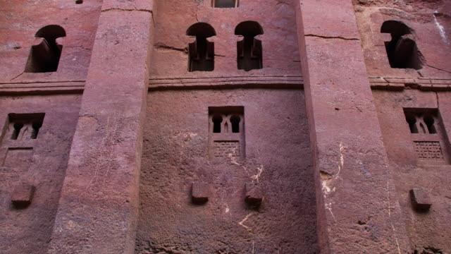 church in lalibela - stone material stock videos & royalty-free footage