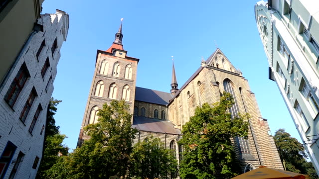 church in rostock - kirche stock videos and b-roll footage