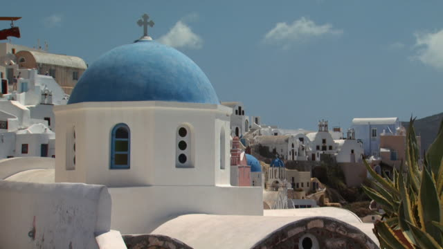 a church in santorini - see other clips from this shoot 1144 stock videos & royalty-free footage