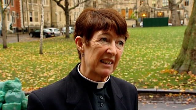 archbishop of canterbury comments on rejection of women bishops ext dr phillip giddings interview sot around a quarter to a third in the country find... - カンタベリー大主教点の映像素材/bロール