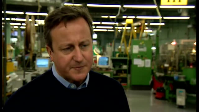 church of england bishops question welfare reforms wales pembrokeshire st davids david cameron mp chatting to factory workers david cameron mp... - pembrokeshire stock videos and b-roll footage
