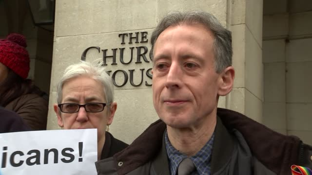 church of england general synod: protest and peter tatchell interview; church of england general synod: protest and peter tatchell interview; peter... - synod stock videos & royalty-free footage