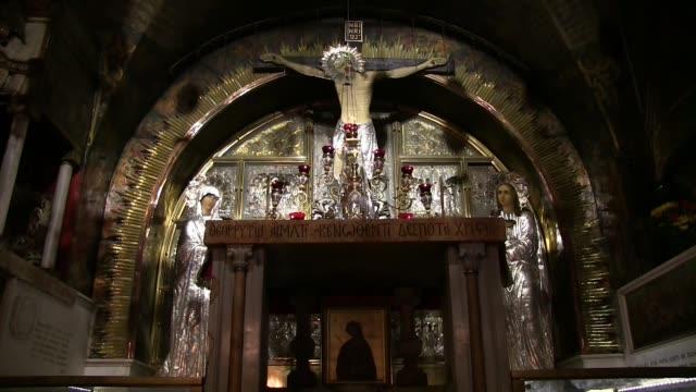 church of holy sepulchre - silverfärgad bildbanksvideor och videomaterial från bakom kulisserna
