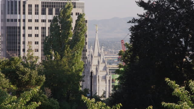 ms ha church of jesus christ of latter-day saints temple / salt lake city, utah, usa - mormonism stock videos & royalty-free footage
