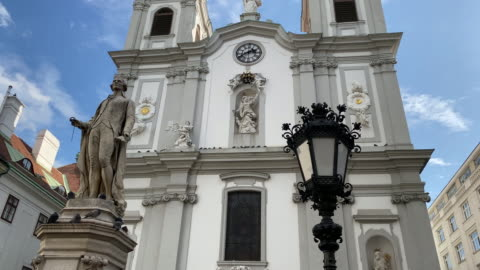 church of mariahilf in vienna - sculpture stock videos & royalty-free footage