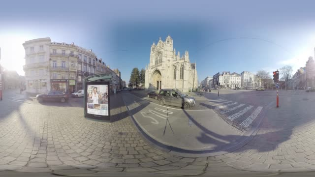 church of our blessed lady of the sablon brussels - 360 video stock videos & royalty-free footage