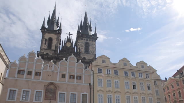 church of our lady in the old town square, prague, czech republic, europe - stare mesto stock videos and b-roll footage