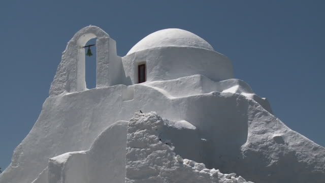 ms church of panagia paraportiani / chora, mykonos, greece - mykonos stock videos & royalty-free footage
