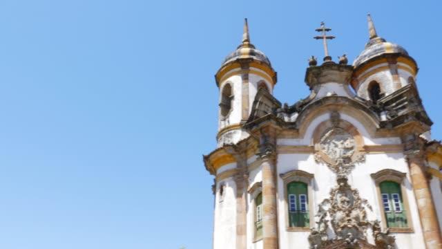 church of saint francis of assisi in ouro preto, minas gerais, brazil - preto stock videos & royalty-free footage