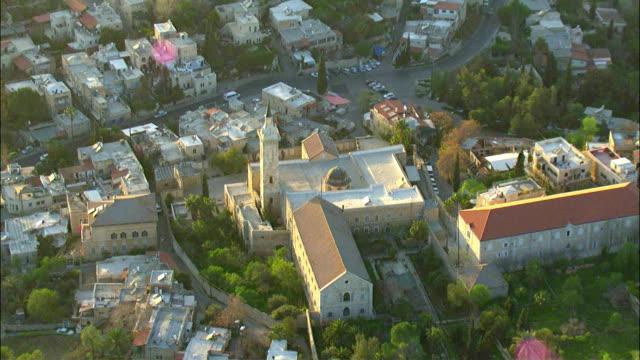 aerial zi church of saint john the baptist, ein kerem neighborhood / jerusalem, israel - roman numeral stock videos & royalty-free footage