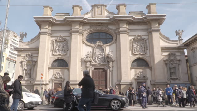 stockvideo's en b-roll-footage met views church of santa maria della passione milan italy on february 22nd 2020 - atmosfeer
