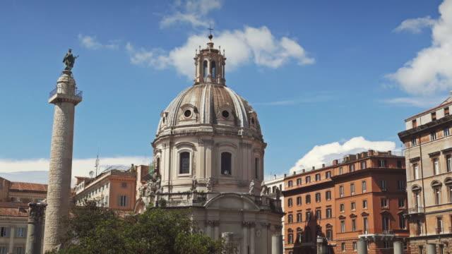Church of Santa Maria di Loreto and Trajan column in Rome