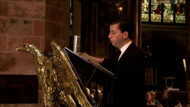 church of scotland post referendum service of unity; douglas alexander mp sot - douglas alexander stock videos & royalty-free footage