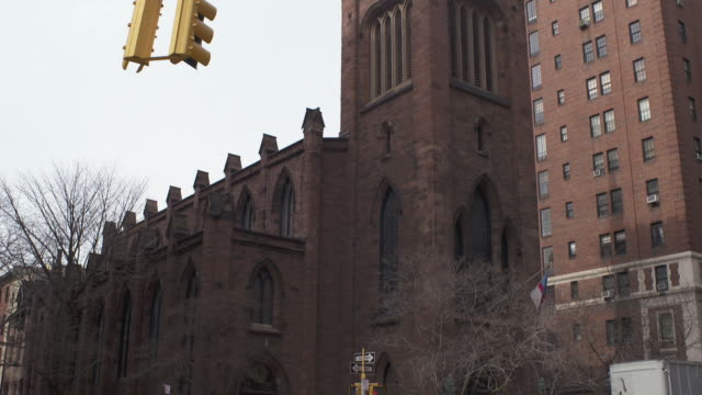church of the ascension in greenwich village - steeple stock videos & royalty-free footage