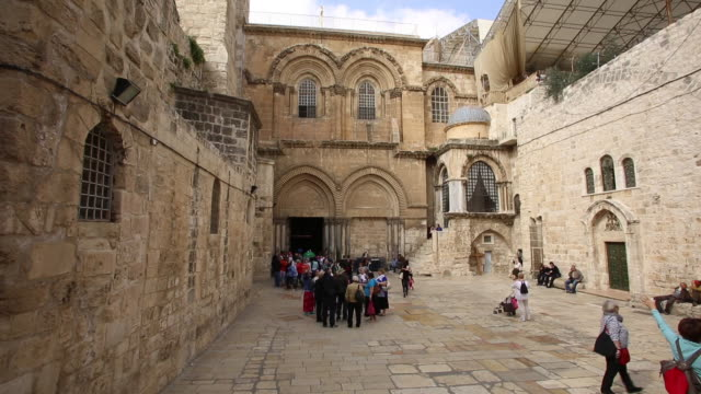 church of the holy sepulchre - jerusalem 10 - jerusalem old city stock videos and b-roll footage