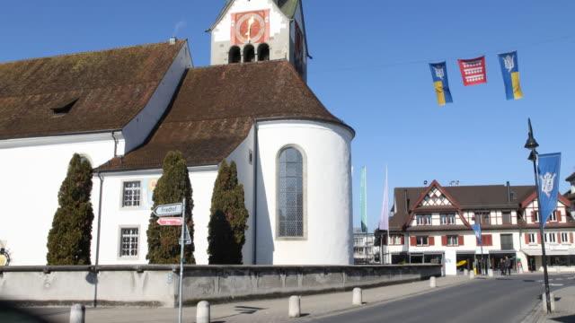church of the parish community centre st. martin in baar, switzerland - jesuit stock videos and b-roll footage