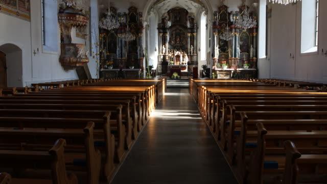 church of the parish community centre st. martin - altar stock videos & royalty-free footage
