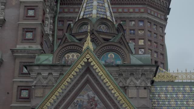 church of the savior on blood, saint petersburg - kirchturmspitze stock-videos und b-roll-filmmaterial