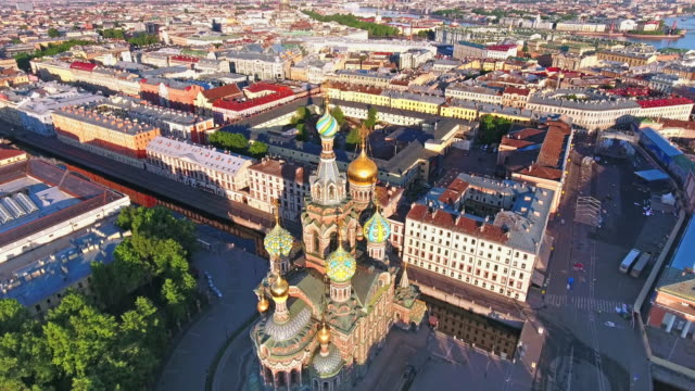 church of the savior on spilled blood - russia stock videos & royalty-free footage