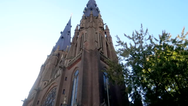 church outside - stock video - evangelicalism stock videos & royalty-free footage