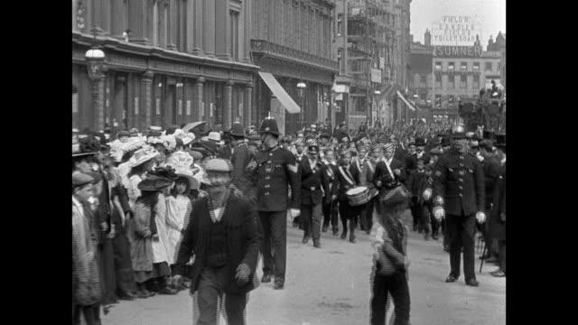 church parade of the boys brigade in birmingham 1902 - birmingham england stock videos & royalty-free footage