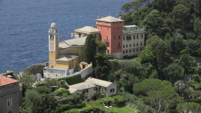 church san giorgio of portofino - liguria stock videos & royalty-free footage