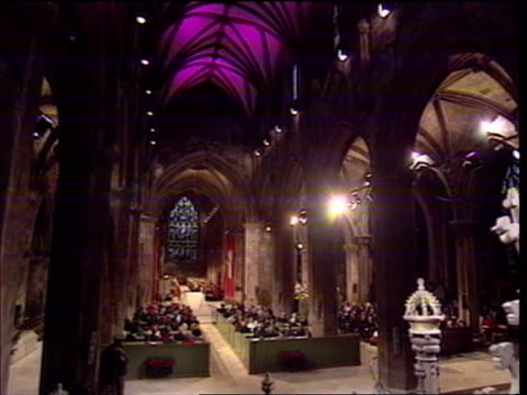 church services bbc scotland pool edinburgh gv service in progress princess anne the princess royal reading at lecturn cms anne sot reads lesson gv... - congregation stock videos and b-roll footage