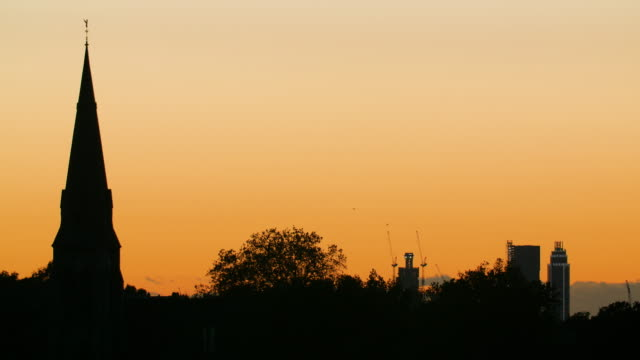 church spire in south london at dusk - pinnacle stock videos & royalty-free footage