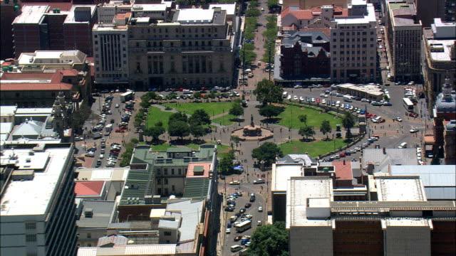 church square  - aerial view - gauteng,  city of tshwane metropolitan municipality,  city of tshwane,  south africa - pretoria stock videos & royalty-free footage