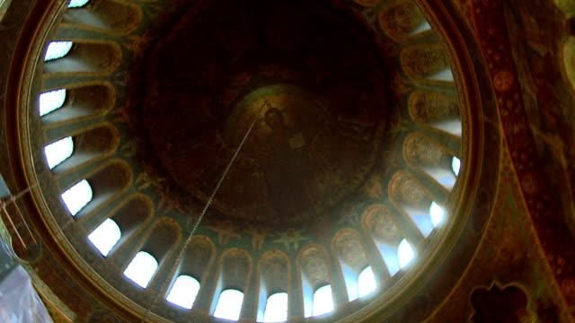 chiesa sveta nedelia cupola - nuovo testamento video stock e b–roll