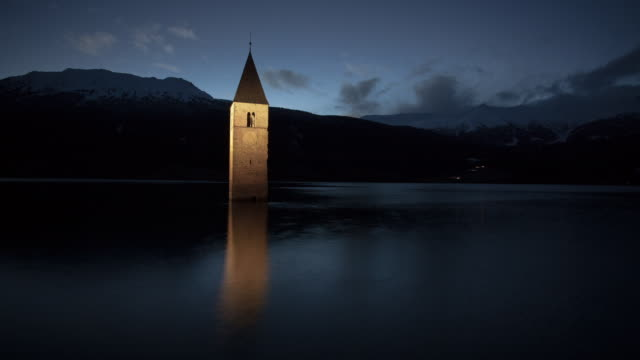 Church Tower in the Lake Reschen
