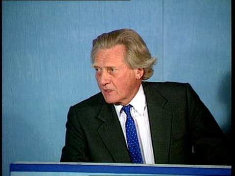 churchill papers lottery money row:; england: london: sw1: cms michael heseltine pkf sot - likens issue to finding valuable painting in your attic... - engraved image stock videos & royalty-free footage