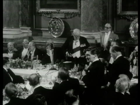 churchill plans lib england london b/w then prime minister winston churchill making speech - winston churchill prime minister stock videos and b-roll footage
