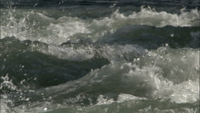 Churning surface of River Negis Available in HD.