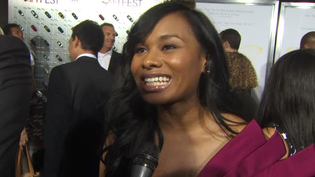 chyna layne on her role in the film on working with the cast and on what she learned from precious at the afi fest 2009 'precious based on the novel... - in the loop 2009 film stock videos and b-roll footage
