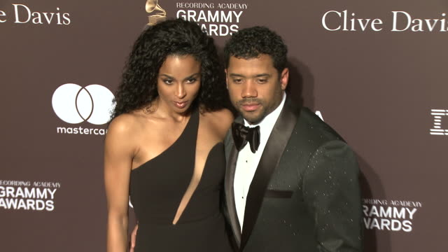 ciara and russell wilson at the clive davis' and the recording academy's pregrammy gala at the beverly hilton hotel on february 09 2019 in beverly... - ciara stock videos & royalty-free footage